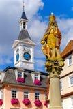 AALEN,德国, 9月 2015年:约瑟夫雕象我市场fou的 免版税库存照片
