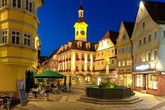 AALEN, GERMANIA, SETTEMBRE 2015: città sulla traccia romantica della strada di A Immagini Stock Libere da Diritti