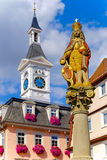 AALEN, GERMANY, SEPT. 2015: Statue of Joseph I at the market fou Royalty Free Stock Photo