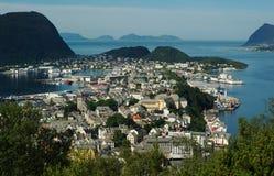 Aalesund in Norvegia fotografia stock