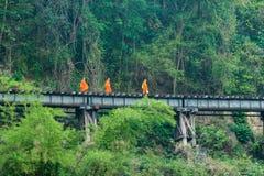 aalmoes op spoorwegsporen Stock Afbeeldingen