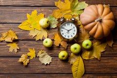 Aalrm klocka och pumpa Royaltyfri Fotografi