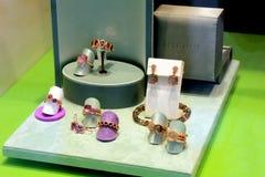 Aalsmeer, los Países Bajos - 21 de abril de 2018: Bron Jewelry exclusivo fotos de archivo libres de regalías