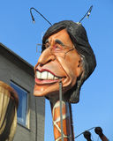 Aalst Carnival 2012. The annual carnival parade in Aalst, Belgium and a caricature of Belgian Prime Minister Elio Di Rupo (Feb 20th 2012). The Carnival is Royalty Free Stock Image