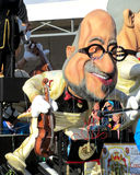 Aalst Carnival 2015. AALST, BELGIUM, 15 FEBRUARY 2015: A caricature of Charles Michel during the famous carnival parade in Aalst. He is the current Prime Stock Photo