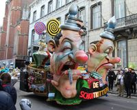 Aalst Carnival Parade Float 2018 Stock Photo