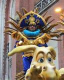 Aalst karneval 2017 Arkivfoton