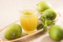 Aam Panna or Salted Green Mango Juice Stock Photo