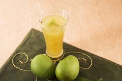 Aam Panna or Salted Green Mano Juice Royalty Free Stock Photos