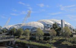 AAMI parkerar sportstadion Melbourne Australien Arkivfoto