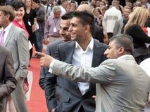Aamir Khan en la premier de los artículos consumibles Foto de archivo