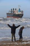 aan нидерландский корабль сел zee на мель wijk Стоковая Фотография RF
