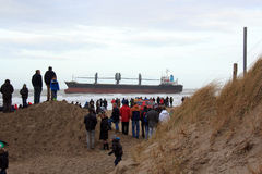 aan нидерландским сели на мель кораблем, котор zee wijk Стоковое Фото