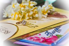 Aan al liefde en het geluk! De Dag van gelukkig Valentine! Stock Foto's