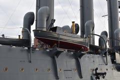 Aan boord van de vlaggeschipboot van de Kruiser Royalty-vrije Stock Afbeeldingen