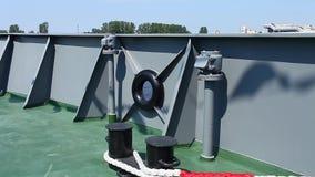 Aan boord van oorlogsschip stock footage