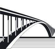 Aan brug vector illustratie