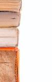 Aan de kant een stapel van oude boeken Stock Foto's