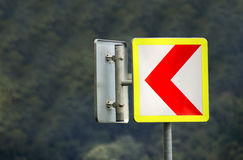 Aan de linkerverkeersteken Royalty-vrije Stock Foto