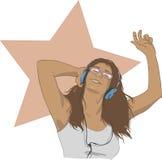 Aan de Muziek royalty-vrije illustratie