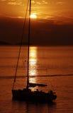 In aan de zonsondergang royalty-vrije stock foto's