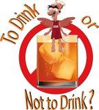 Aan drank of niet aan drank? royalty-vrije illustratie