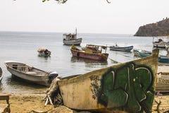 aan een paar golven van visserij royalty-vrije stock foto