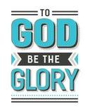 Aan God ben de Glorie royalty-vrije illustratie