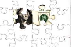 Aan het licht gebracht Geld royalty-vrije stock foto's