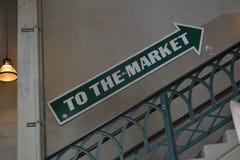 Aan het Marktteken Royalty-vrije Stock Foto