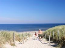 Aan het strand Stock Foto