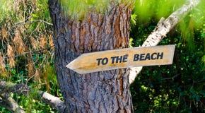 Aan het strand Royalty-vrije Stock Afbeelding