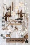 Aan het Strand Art Abstract Royalty-vrije Stock Afbeelding
