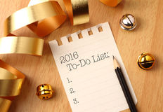 2016 aan-maken van een lijst Stock Fotografie