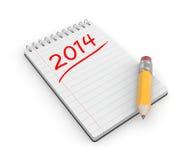 Aan-maken van voor het nieuwe jaar een lijst Royalty-vrije Stock Foto