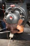 Aan opwarmingsmotor Stock Foto