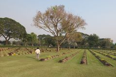 Aan:trekken-Rak Oorlogsbegraafplaats Nr 3 stock afbeeldingen