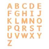 A aan Z, het alfabet van de Bloem stock afbeelding