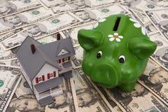 Aanbetaling en Hypotheek royalty-vrije stock foto's