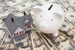 Aanbetaling en Hypotheek stock fotografie