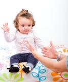 Aanbiddelijk babymeisje Stock Foto's