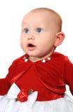 Aanbiddelijk babymeisje dat omhoog kijkt Royalty-vrije Stock Foto