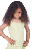 Aanbiddelijk boos meisje Stock Afbeelding