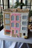 Aanbiddelijk die Brandhuis van peperkoek en PEZ-suikergoed, George Eastman House, Rochester New York, 2017 wordt gemaakt Royalty-vrije Stock Afbeeldingen