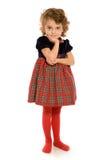 Aanbiddelijk jong meisje Stock Foto