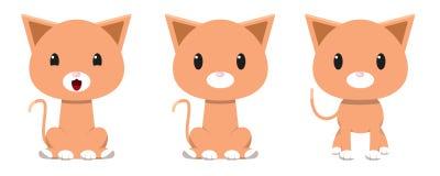 Aanbiddelijk kattenkarakter Royalty-vrije Stock Fotografie
