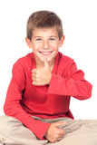 Aanbiddelijk kind dat o.k. zegt Stock Afbeelding