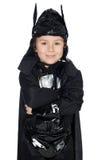 Aanbiddelijk kind dat van knuppel wordt vermomd royalty-vrije stock afbeelding