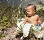 Aanbiddelijk weinig baby Royalty-vrije Stock Foto