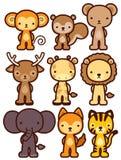 Aanbiddelijk wild dierlijk karakter Stock Afbeeldingen